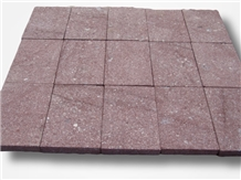 Red Porphy Paving Tiles Flamed Driveway