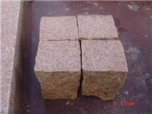 Rust Yellow Granite Cobbles Pavers