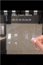 Shaliz Cream Marble Slabs, Tiles