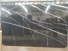 Bookmatched China Marquina Black Marble Slabs