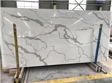 Classy White Calacatta Quartz Slabs & Tiles