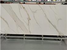 Calacatta White Sintered Stone Slabs Tiles