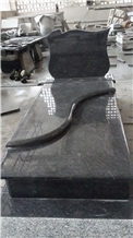 Carved Stone Tombstone Steel Grey Headstone