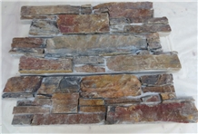 Exterior Multi Rusty Natural Slate Split Cultured
