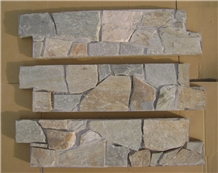 Grey Slate Cemented Stacked Stone,Natural Split