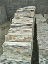 Natural Rusty Quartzite Cultured Stone Wall Panel