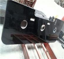Prefab Black Galaxy Granite Kitchen Counter Tops