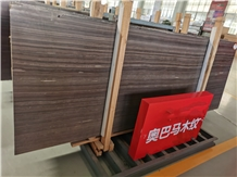 Tobacco Brown Marble Abama Wooden Slabs Tiles