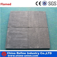 Cheap Chinese Black Sandstone Flooring Tiles