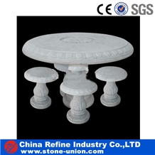 China Marble Table & Bench,Marble Garden Bench