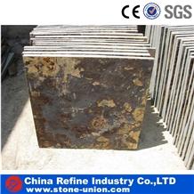 Chinese Brown Slate Tile for Flooring Tiles
