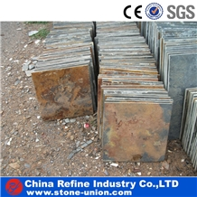 Chinese Cheap Multicolor Rusty Slate Wall Cladding