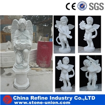 Cute Chirldren Angel Marble Handcraft Statue