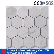 Italian Bianco Carrara Marble New Design Mosaic