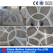 Marble Water Jet Medallions Inlay Tiles Factory