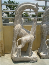 Natural Granite Stone Park Animal Sculptures