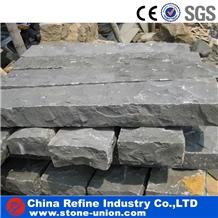 Natural Split Hainan Black Basalt Kerbstone