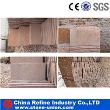 Pink Sandstone Honed Flooring Tiles,Wall Tiles