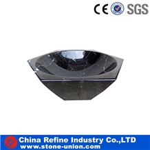 Polished Wholesale Black Marble Sinks and Basins