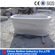 Pure Hunan White Marble Western Style Bath Tubs