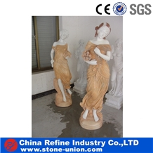Pure White Marble Human Sculpture and Hand Carving