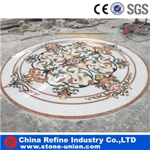 Round Water Jet Medallions Inlay Flooring Tiles