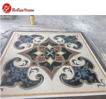Square Flower Pattern Marble Medallions Carpets