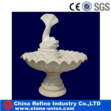 White Marble Carving Stone Fish Fountain