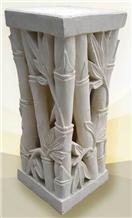 White Marble Garden Pillars / Roman Columns