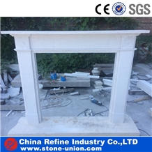 White Marble Handcraft Carved Fireplace Decorating