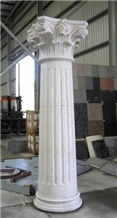 White Marble Roman Columns by Handcarved Sculpture