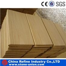 Yellow Wooden Grain Veins Sandstone Flooring Tiles