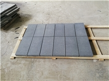 Ash Black Granite,Flamed+Waterjet,Pavers
