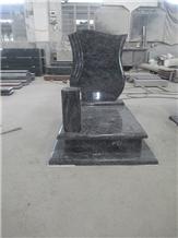 Bahama Blue Granite Tombstone Monument Gravestone