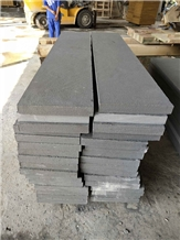 China Black Sandstone Flamed Treads Steps