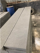 Flamed Black Sandstone Treads Steps