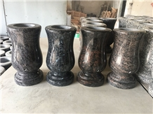 Grave Memorial Monumental Granite Vases