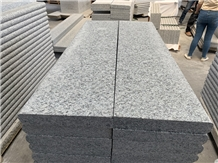 Grey Granite Stone Bullnose Stair Treads Steps