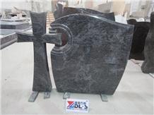 Hungary Bahama Blue Granite Cross Headstones