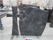 Hungary Bahama Blue Granite Headstones Wholesaler
