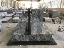 New Juparana Grey,Wave Granite,Tombstone&Headstone