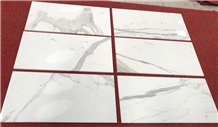 Bianco Calacatta Gold Marble Tiles in 12x12/ 24x24