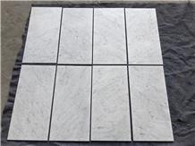 Bianco Carrara White Marble Tiles 12x24