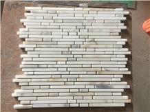 Calacatta Marble Strip Mosaic Tile
