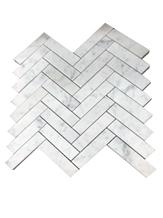 Carrara Herringbone White Marble Stone Mosaic
