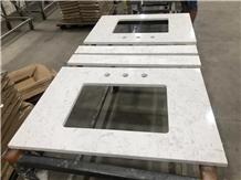 Carrara Vanity Top, White Marble Countertops