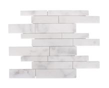 Random White Marble Polished Mosaic
