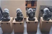 Bluestone Small Monks Sculptures Stone Artwork