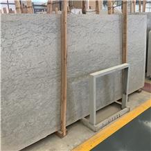 Angola Grey Limestone Slab Exterior Wall Cladding