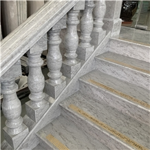 Custom Design Grey Marble Handrail Indoor Baluster